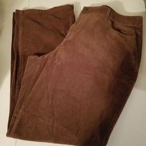 Talbots 20W Brown Curvy Corduroy Pants